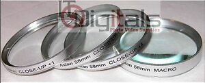 52mm +1 +2 +4 & MACRO +10 CLOSEUP LENS FILTER SET KIT 52 mm Asian Camera