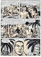 BOB LEGUAY MAGNIFIQUE PLANCHE ORIGINALE TIM L'AUDACE ANNEES 1950 PAGE 28