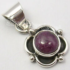 925 Solid Silver Low Price RUBY BESTSELLER Pendant 2.3 CM INDIAN JEWELRY STORE