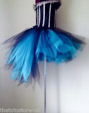Black Turquiose Blue Burlesque Tutu Skirt XS S.M..L XL Sexy Peacock Bustle