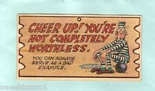 #D18.  A& BC  WACKY PLAK CARD #34 CHEER UP, NOT COMPLETELY WORTHLESS