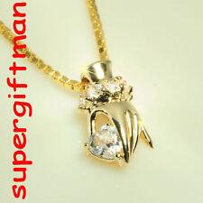 R696 - MAIN AUX DIAMANTS - hand met diamanten GOUD / or