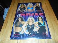 WWE 2004 Divas Poster 34 X 22 WWF Victoria Sable Trish Stratus RARE