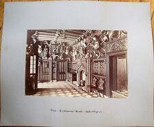 "Abbotsford, Entrance Hall, Scotland- 1880s Photograph/Photo on Board - 10"" x 12"""