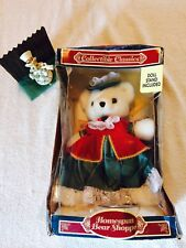 1990's Homespun Bear Shoppe Collectible Classic Bear And Stand . New