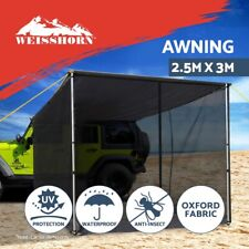 Weisshorn 2.5X3M Car Side Awning Fly Mesh Roof Rack Top Tent Side Shades 4X4 4WD