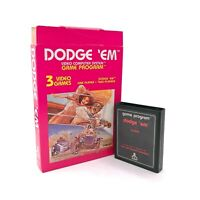 Dodge 'Em (Atari 2600, 1980) CX2637 Game Cartridge & Box (No Manual) Tested