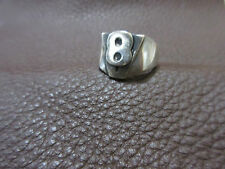 V8 Big Block Anillo Esterlina Macizo Rockabilly Nose Art Hotrod Rat Tod Talla 62