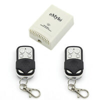 eMylo RF Switch DC12V 4CH Wireless Remote Control Switch with 2 Transmitters