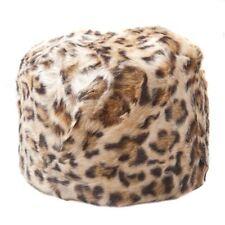 Women's Leopardato in Pelliccia Sintetica Cosacco Stile Cappello Russo