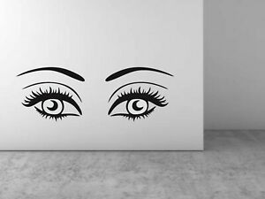 Eyebrows Eyelashes Wall Sticker DIY Art Decal Wall Home Decoration