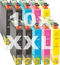 10x cartucho tinta compatible Non-Oem 16XL para Epson wf2510wf wf2520nf wf2530wf