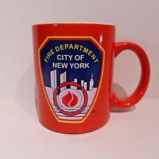 NYFD Mug Fireman New York City Red 11 oz Tourist Souvenir Red 1st Responder
