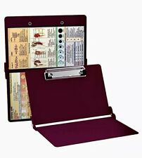 WhiteCoat Clipboards By Mdpocket Wine Folding Medical Clipboard-Nursing Edition