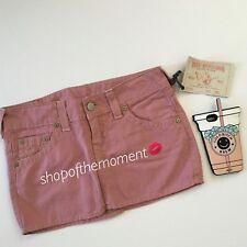 True Religion Jeans ʊ Lizzie Minirock ✪ in ausgewaschenem rot ✪ 31 Nwt $152 ✪ Mclaren Autogramme ✪ sehr lustig
