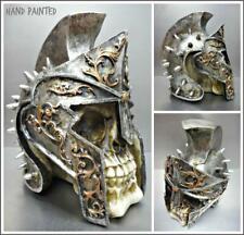 Römische Gladiator Helm Totenkopf Skelett Kopf Skulptur Figur Halloween Dekor