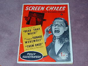 SCREEN CHILLS magazine from 1957, very rare, perhaps before Famous Monsters # 1