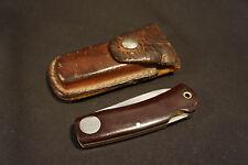 Old Vtg Khyber #2602 Japan Lockback Single Blade Folding Pocket Knife W/Case