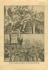 Parade Veterans Deutsches Heer Reichswehr Berlin Germany  1919 ILLUSTRATION