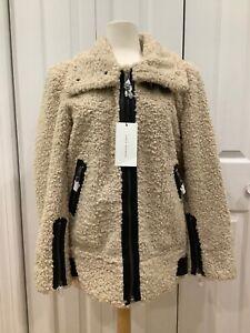 NWT Zara Faux Fur Moto Jacket Size Large