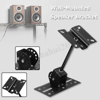 Heavy Duty Large 180° Adjustable Bookshelf Side Speaker Wall Mount Bracket