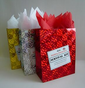 40th Ruby Wedding Anniversary SURVIVAL KIT Unusual Novelty Gift Idea Fun Present