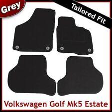 VW Golf Estate Mk5 2007-2009 Round Eyelets Tailored Carpet Car Mats GREY
