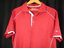 Nike Golf Tour Performance Dri-Fit Mens Short Sleeve Garnet White Polo Shirt L