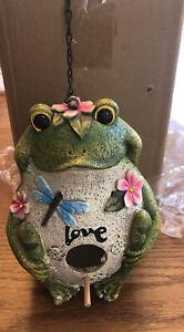 Frog ~love~ Hanging Bird House