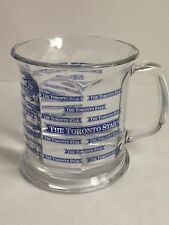 The Toronto Star Newspaper Collectible Glass Mug, Beer Stein, Repeated Logo RARE
