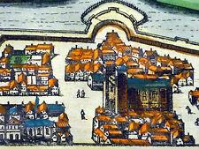 Map WITTENBERG KOL. KUPFERSTICH HOGENBERG 1580 AD COPPER ENGRAVING Color