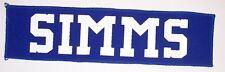 SIMMS Screen Printed GIANTS Football Jersey Nameplate Namebar plate