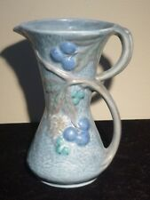 Rare Blue Art Nouveau Pitcher Flaxman Ware Hand Made Pottery Wade Heath England
