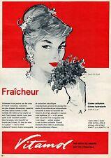 ▬► PUBLICITE ADVERTISING AD VITAMOL Produits de beauté 1961