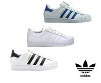 Adidas Originals Superstar Boys Kids Junior Trainers Casual Fashion Shoes