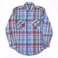 Vintage DICKIES Blue Check Flannel Casual Cotton Shirt Size Men's Medium