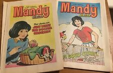 12 Vintage Children's 80's Girl's Comics Mandy The 1980's Great Condition