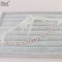 Rose Gold Crystal Rhinestone Yarn Headpiece Headband Tiara Wedding Bridal Prom