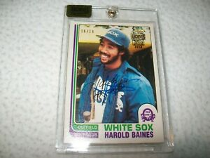 2016 TOPPS ARCHIVES 1982 O-PEE-CHEE HAROLD BAINES AUTOGRAPH #D/18 WHITE SOX