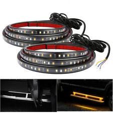 "2x 60"" SUV Truck Running Board LED Strip Sequential Turn Signal Door Sill Light"