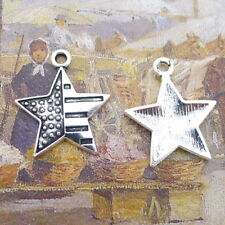 20pcs Charms Stars Tibetan Silver Pendant DIY Bracelet Jewelry Making 25*21mm