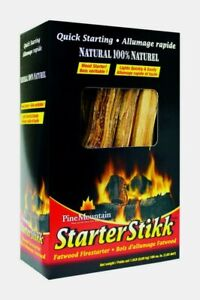 Pine Mountain STARTER STIKK 1.5 lb Wood Fire Starter 100% Natural Quick Starting