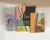 3 Graphic Novel lot, Subway Series, Tricked, Carnet De Voyage ,Leela Corman.