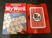 VINTAGE MY WORD CARD GAME WADDINGTONS 1985 LAST WORD IN CARD GAMES COMPLETE