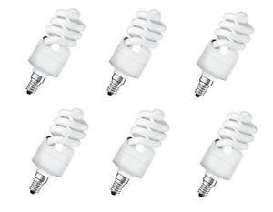 6x OSRAM DULUX TWIST Energiesparlampe 15W=70W E14 EEK: A (Spektrum A++ bis E)