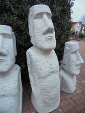 Gartenfigur, XXXL Moai, Skulptur, Rapa Nui Osterinsel Steinguss, Nui Tiki Statue