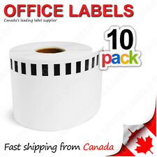 """10 Rolls of DK-2205 BROTHER® Compatible Tape 2-3/7"""" x 100' (Without Holder)"""