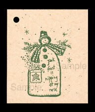 50 PRIM JACK FROST  HANG TAGS WINTER OR CHRISTMAS CRAFT