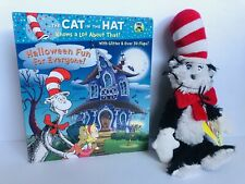 Dr Seuss The Cat In The Hat Halloween Fun Interactive Book, Stuffed Plush New!