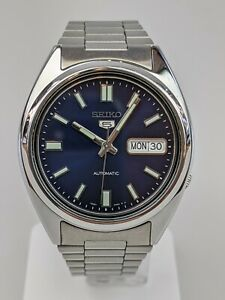 Seiko 5 Automatic Blue Dial Silver Stainless Steel Men's Watch SNXS77K1 RRP £169